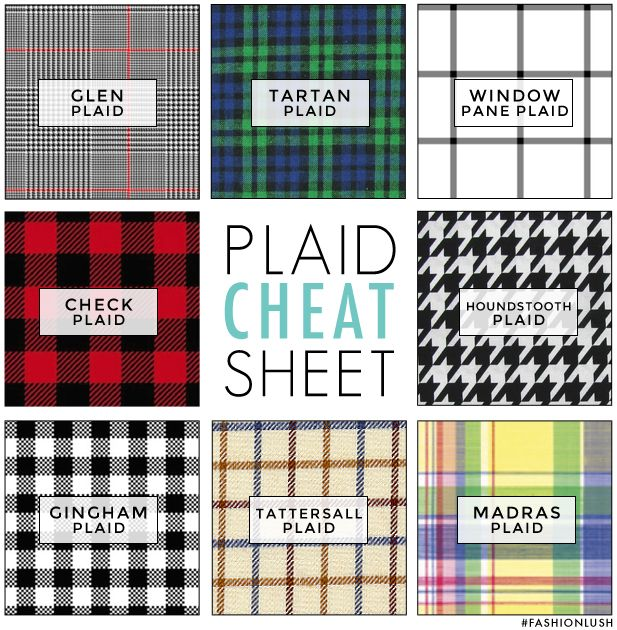 Different types of plaid designs you can use in your home decor