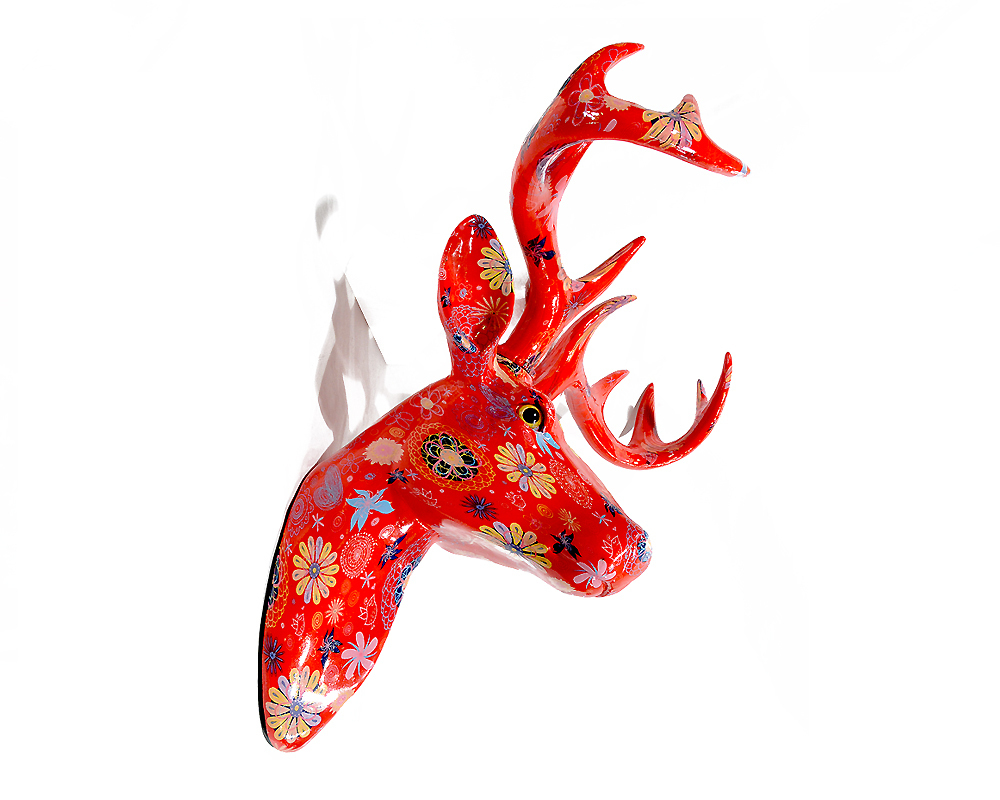 Nelson the Pomme-Pidou Deer for sale through Tassels & Tigers Interiors.jpg