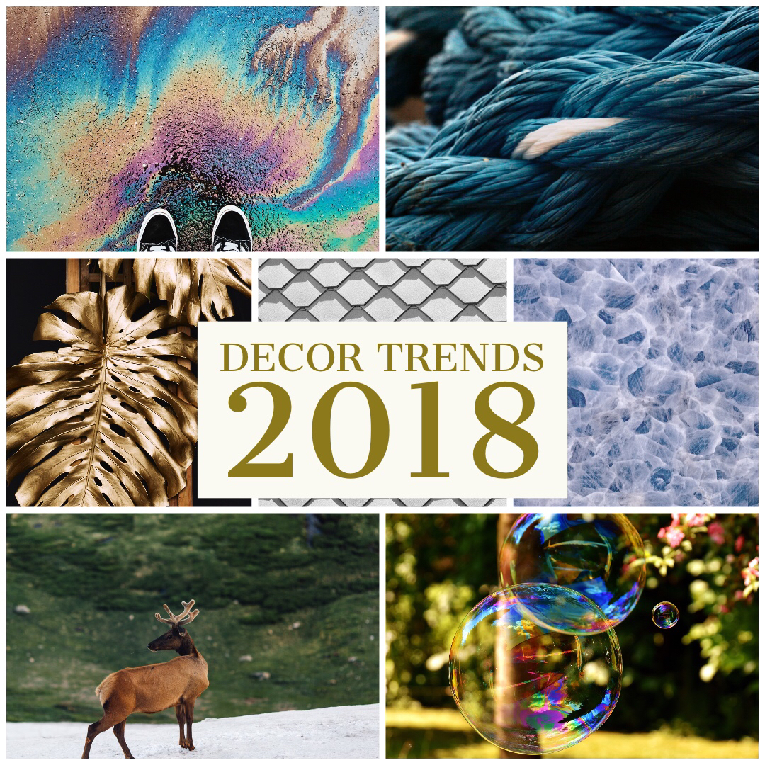 A summary of the decor and design trends of 2018, complied by Tassels & Tigers interiors decor and design blog and online store
