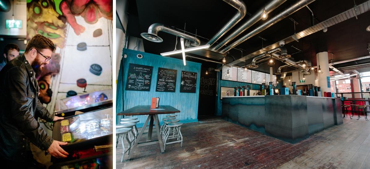 interior photography brewdog - pinball machine mark newton