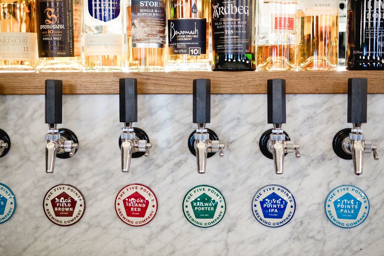 turks head brewery photography of five point keg fonts