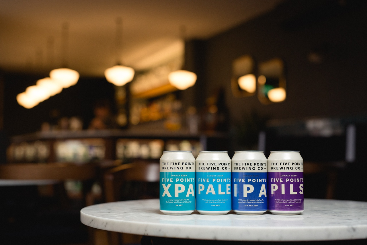 craft beer product photographer leeds Five points brewing co cans