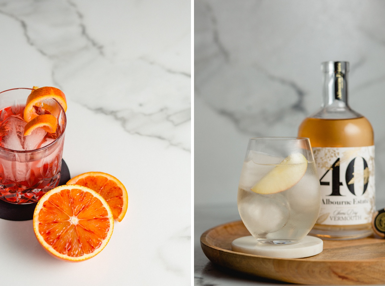 cocktail photography using english vermouth from sussex