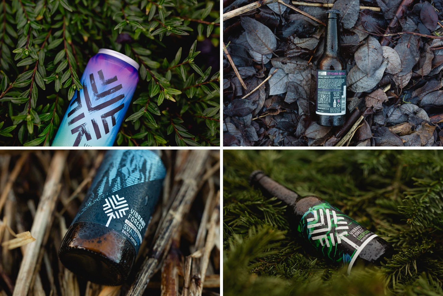 Graphic design photography details of beer bottle shots
