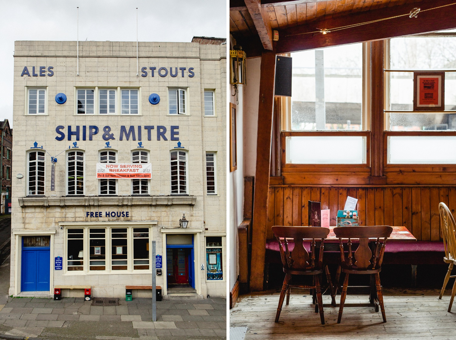 Ship and Mitre real ale pub interiors liverpool