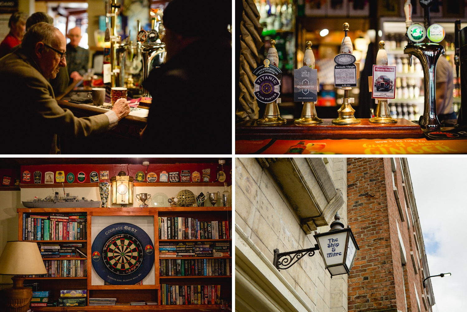 editorial photography details in Ship and Mitre pub