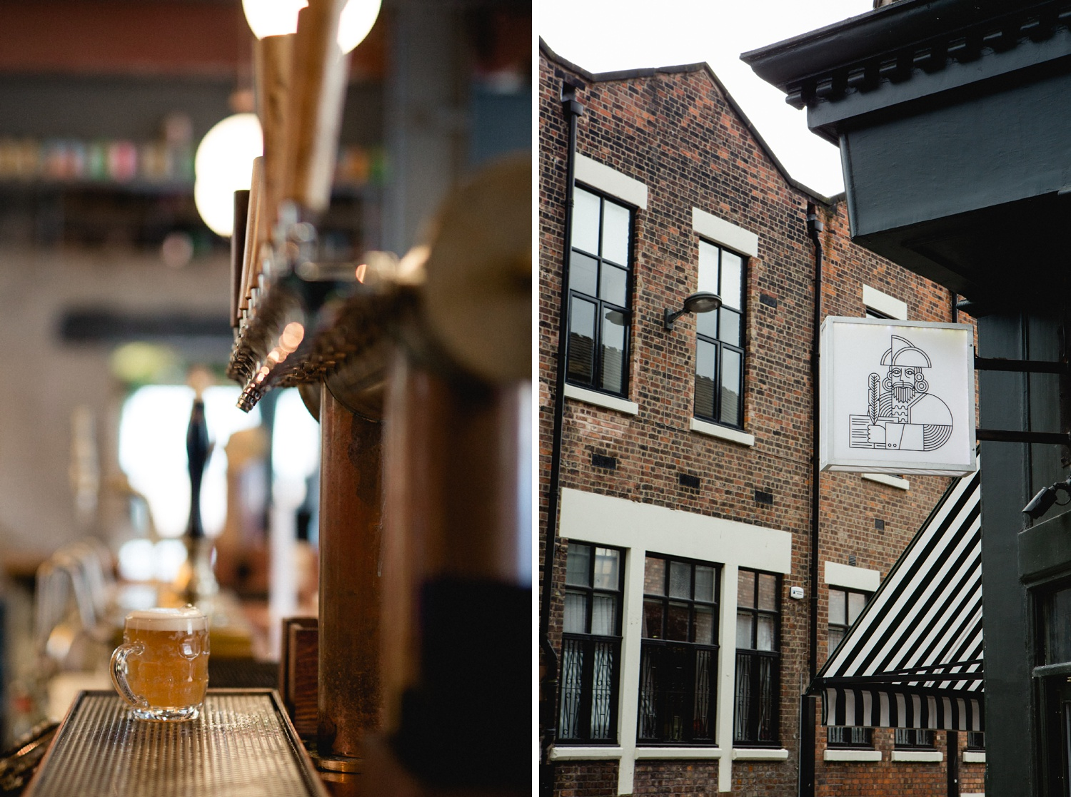 the merchant liverpool craft beer and exterior photography