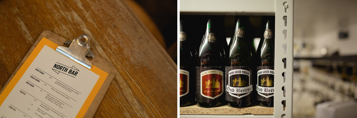 commercial Photography showing bar details Leeds