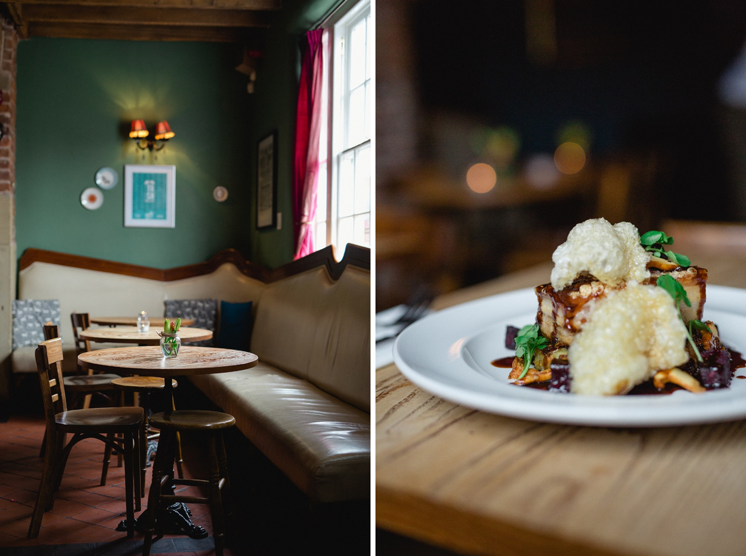 Food photography close up at Cross Keys in Leeds