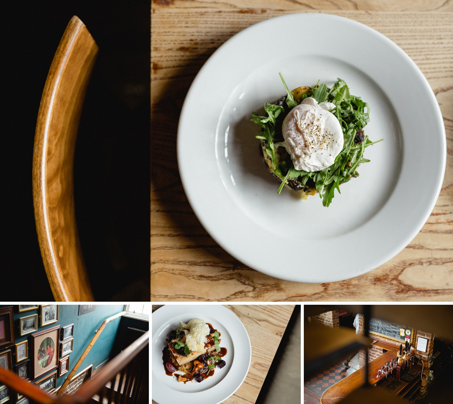 editorial food photography of meals at Cross keys in Leeds