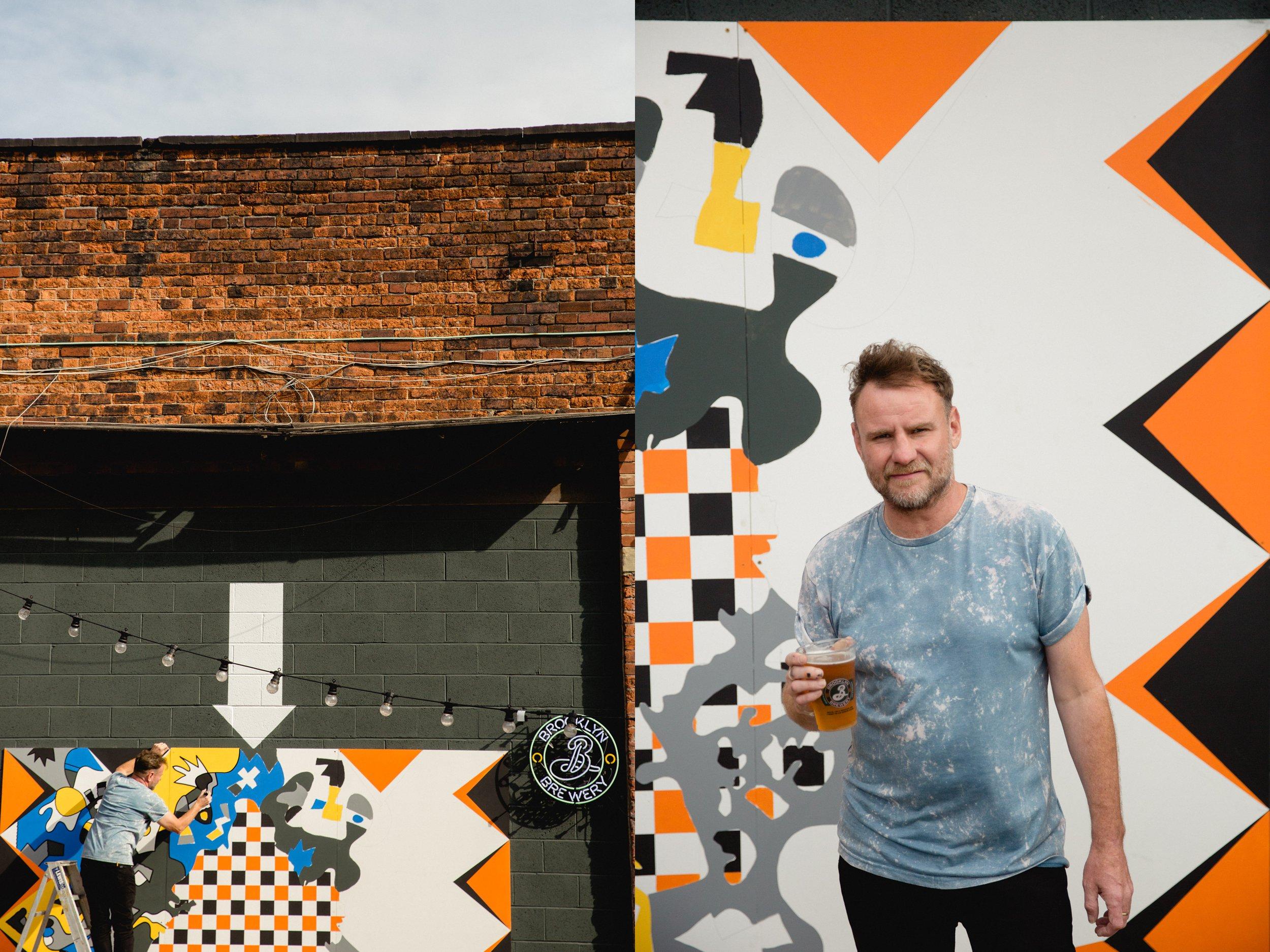 Nicholas Dixon street artist painting in leeds