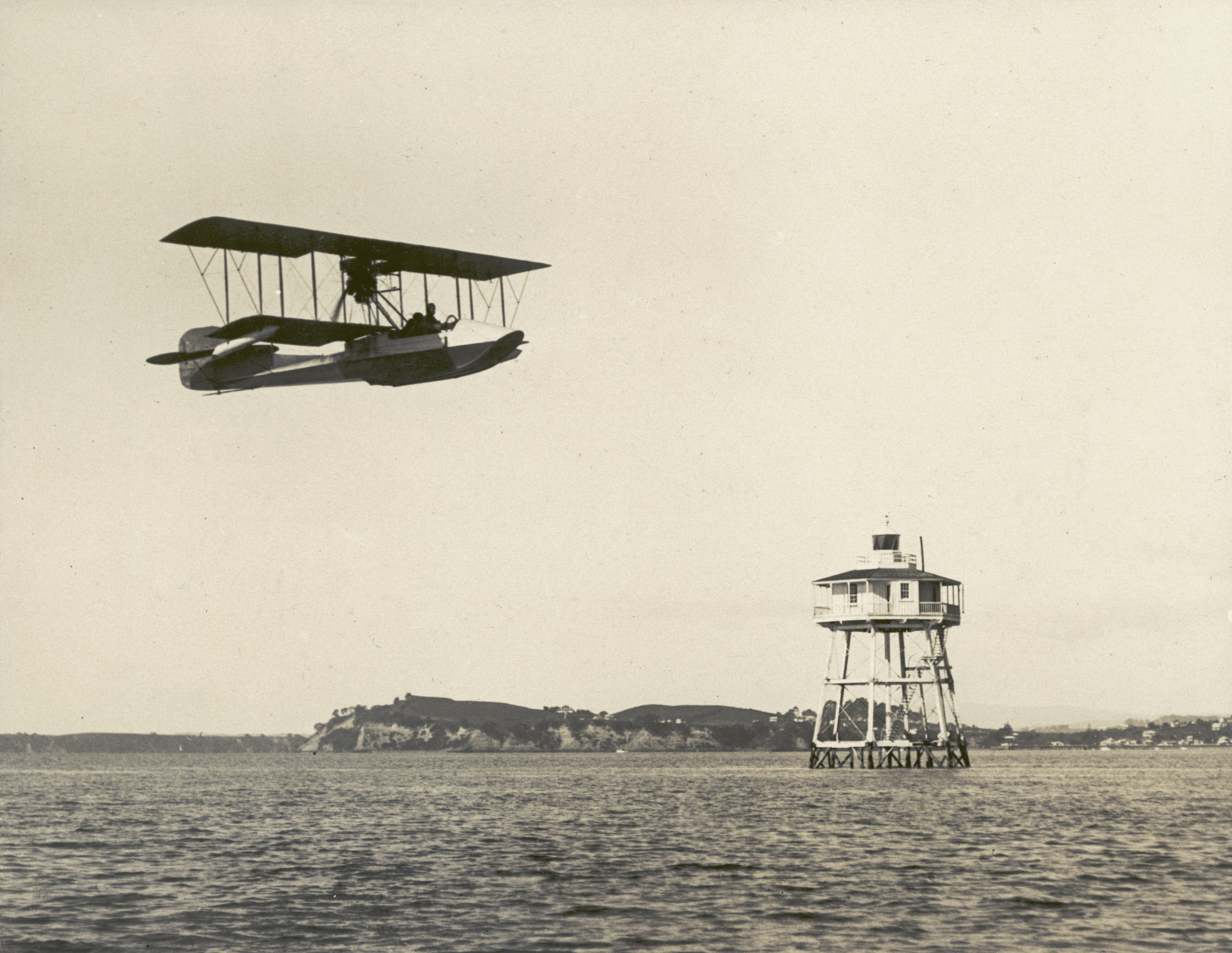 The first flying boat