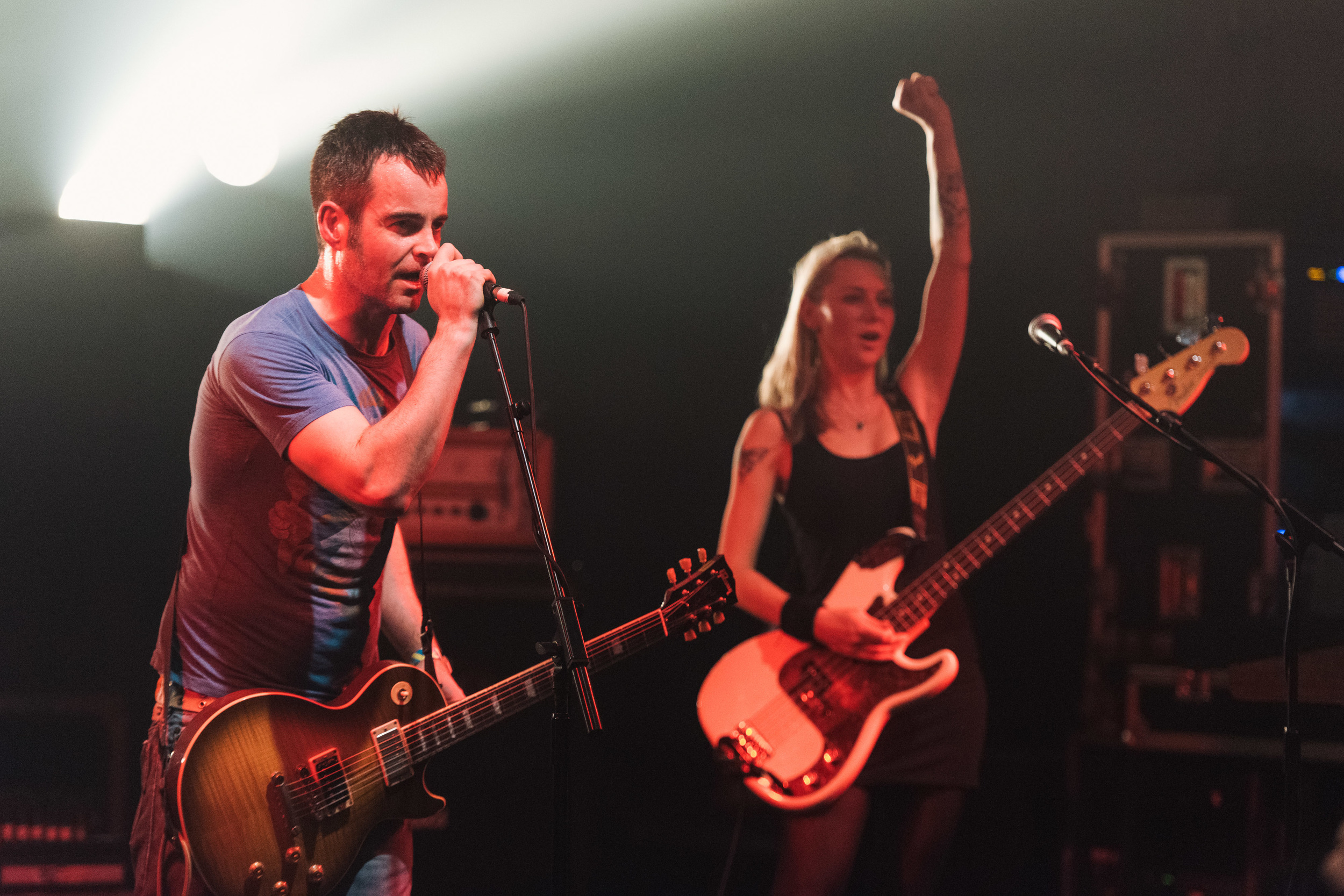 "Future Of The Left at The Electric Ballroom - Andrew ""Falco"" Falkous and Julia Ruzicka"