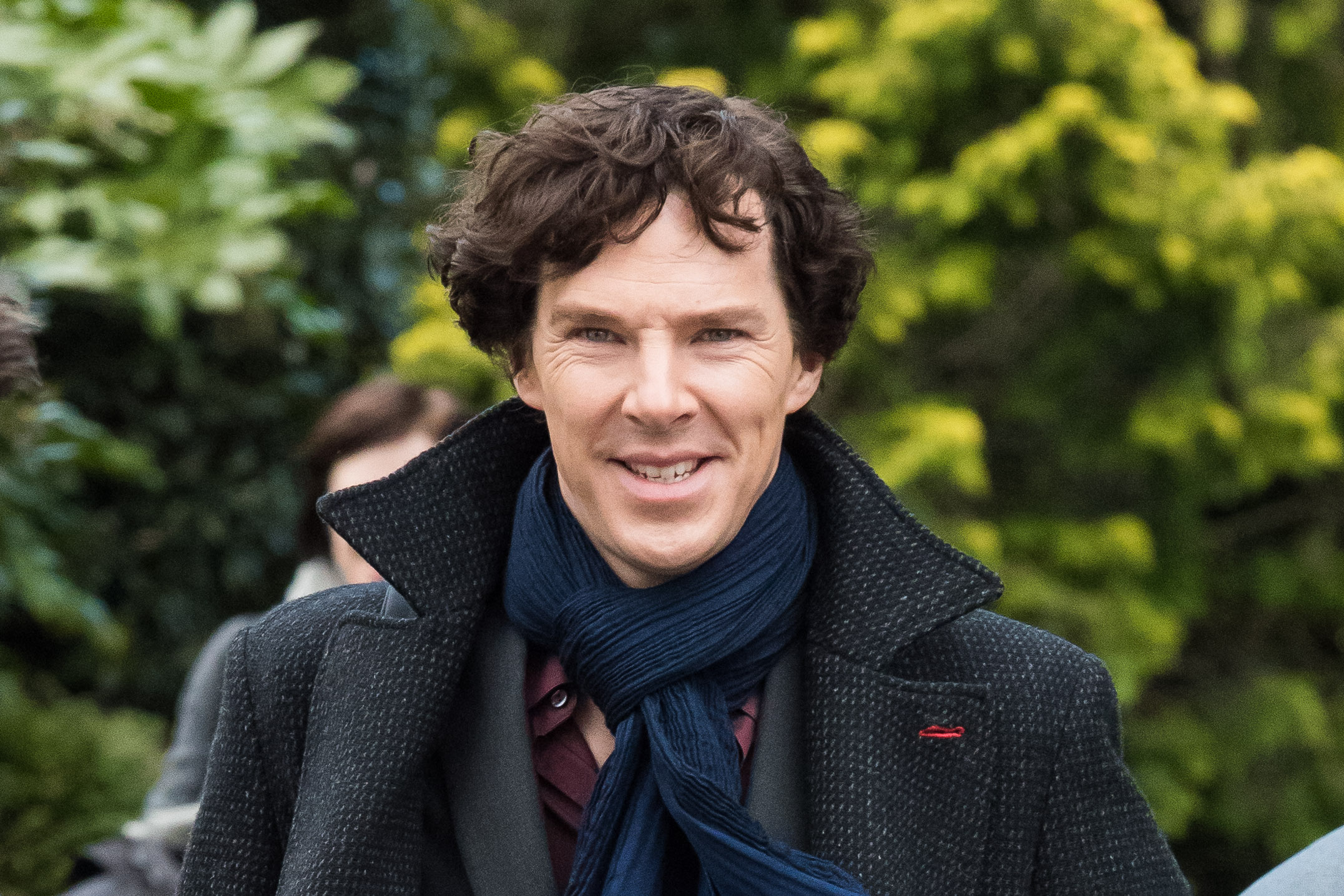 Benedict Cumberbatch spotted on the Sherlock set, 25th April 2016.