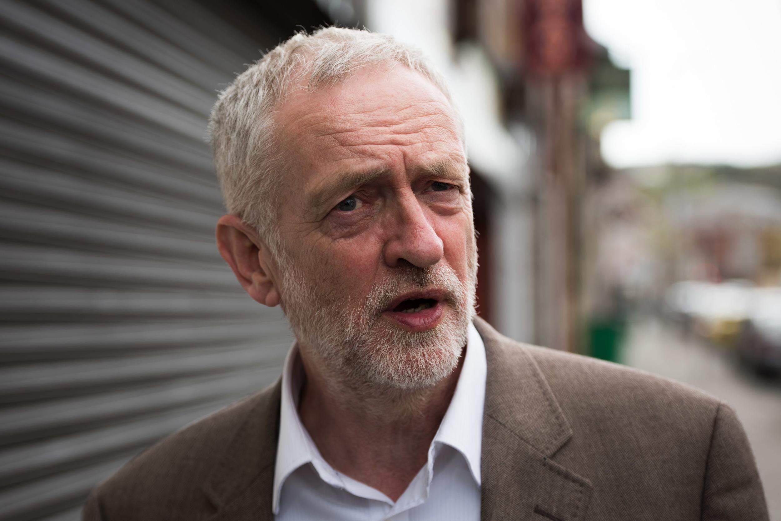 Labour leader Jeremy Corbyn visiting Maesteg.