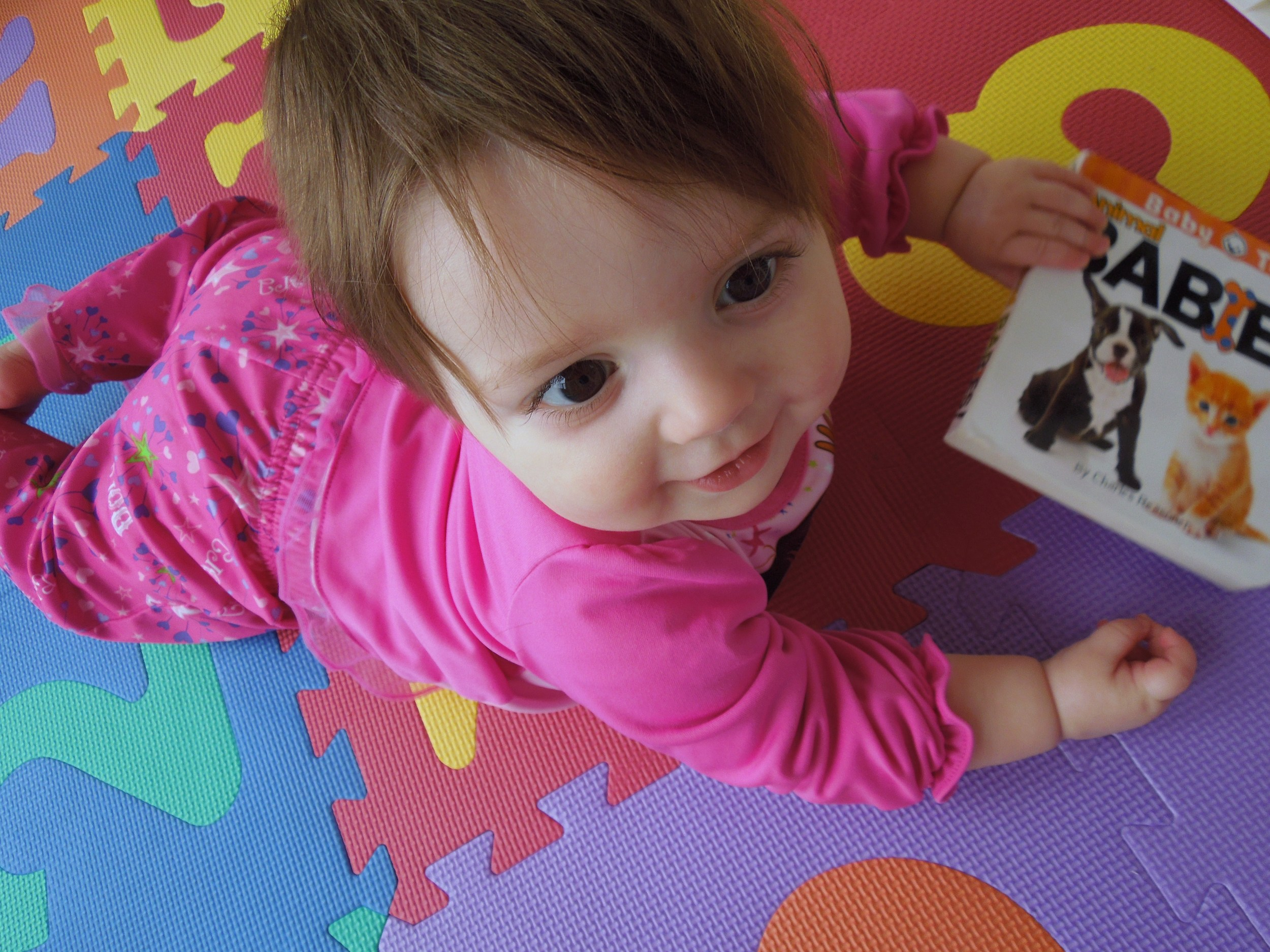 10 Months Old with board book