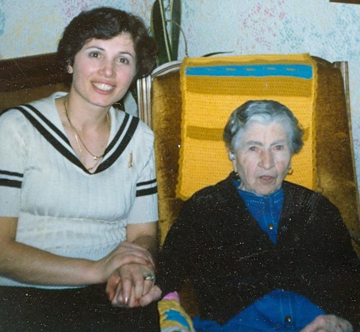 Centenarian Grandma Galliano & Mom.