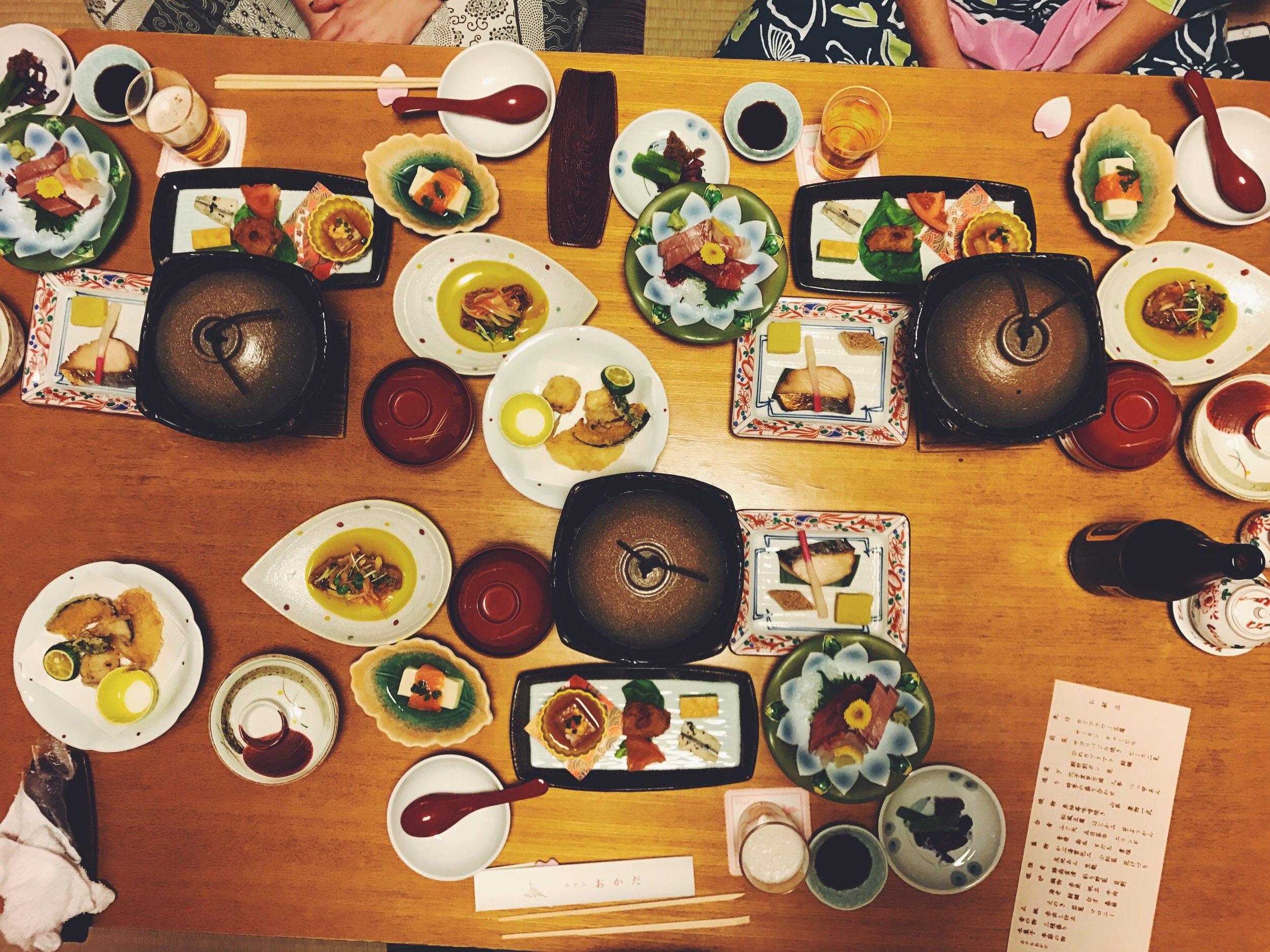 kaiseki dinner.