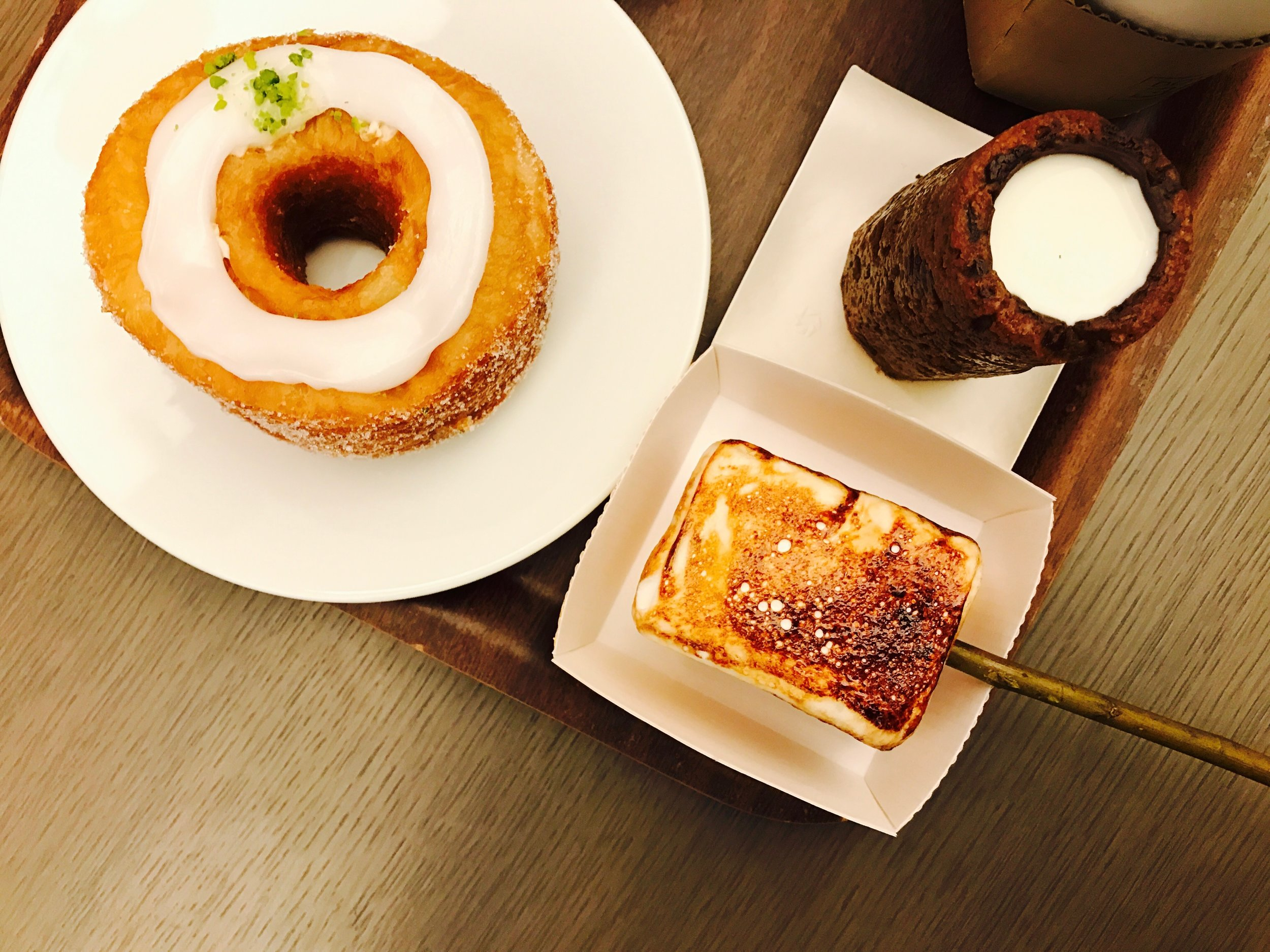 cronut, frozen s'more, cookie shot.