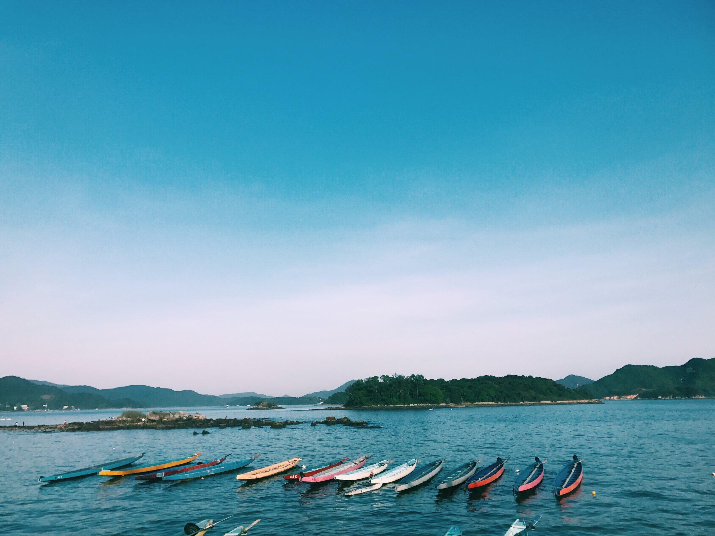 boats in Sai Kung