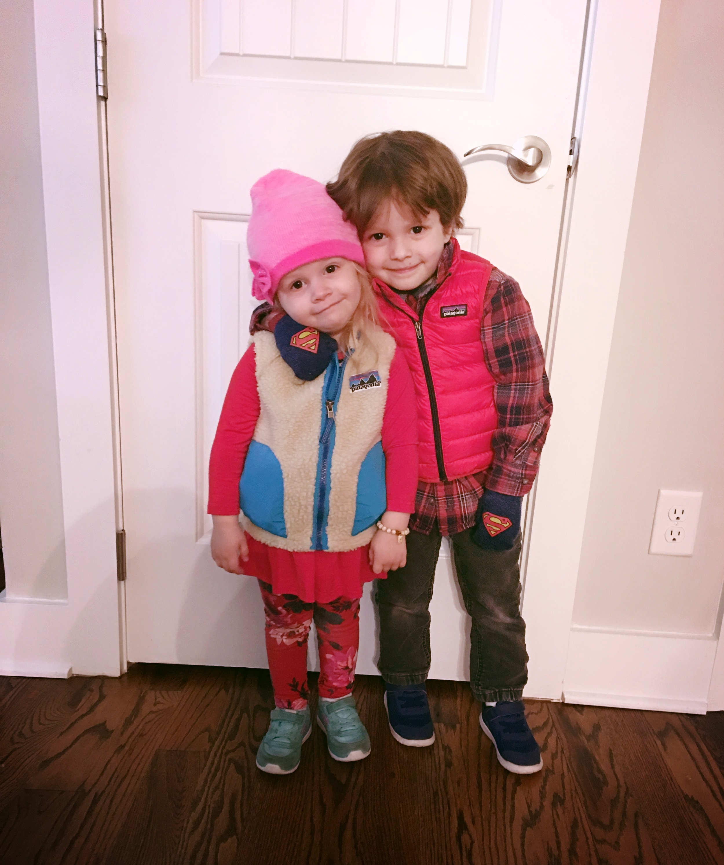 Our little ones ready for date night last year.