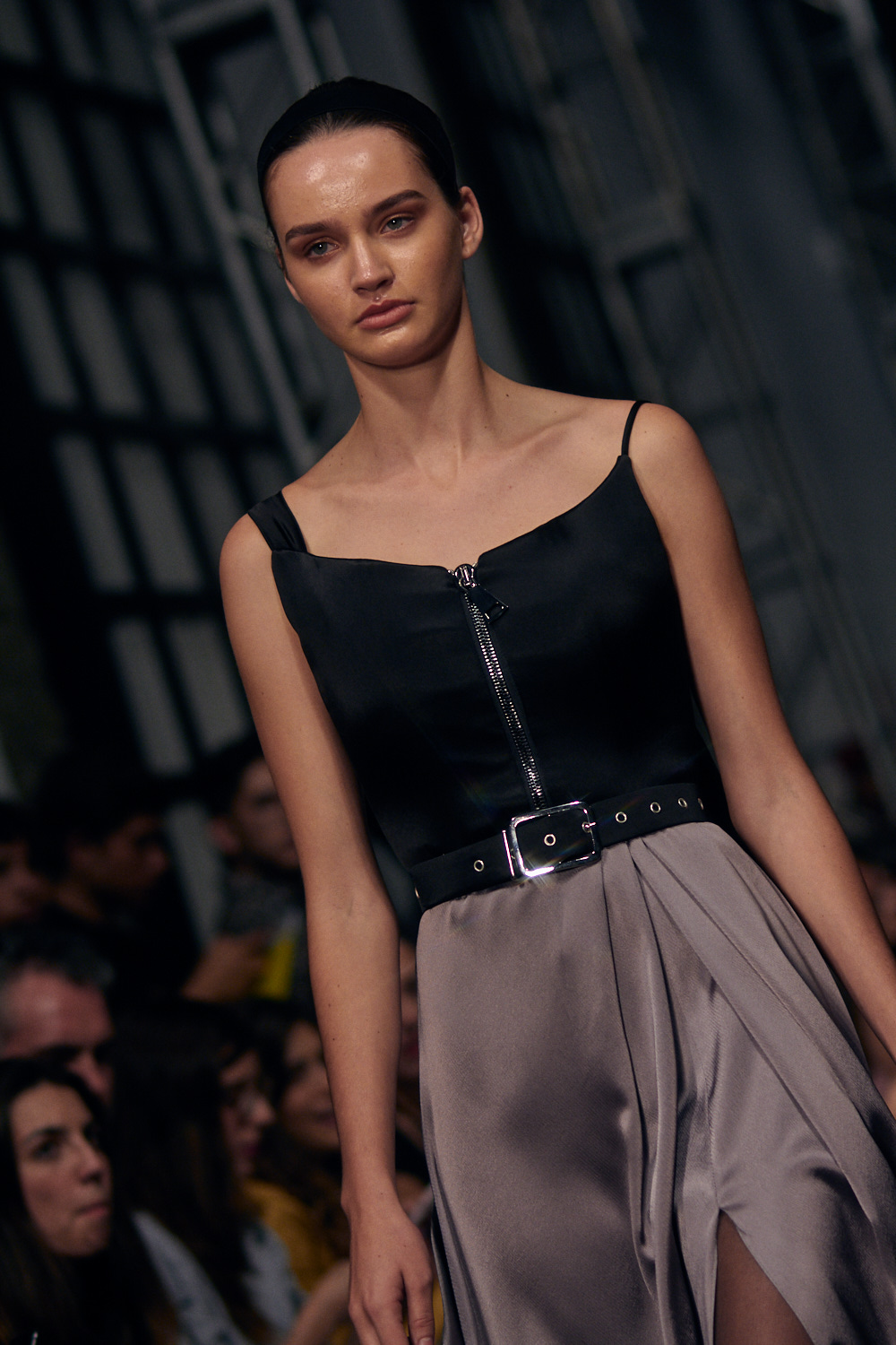 MEXICO CITY, MEXICO - OCTOBER 13: A model walks the runway during the Alfredo Martinez fashion show at Mercedes Benz Fashion Week Mexico 2018 at Ex Convento de San Hipolito on October 13, 2018 in Mexico City, Mexico. (Photo by Leonardo Fernandez)