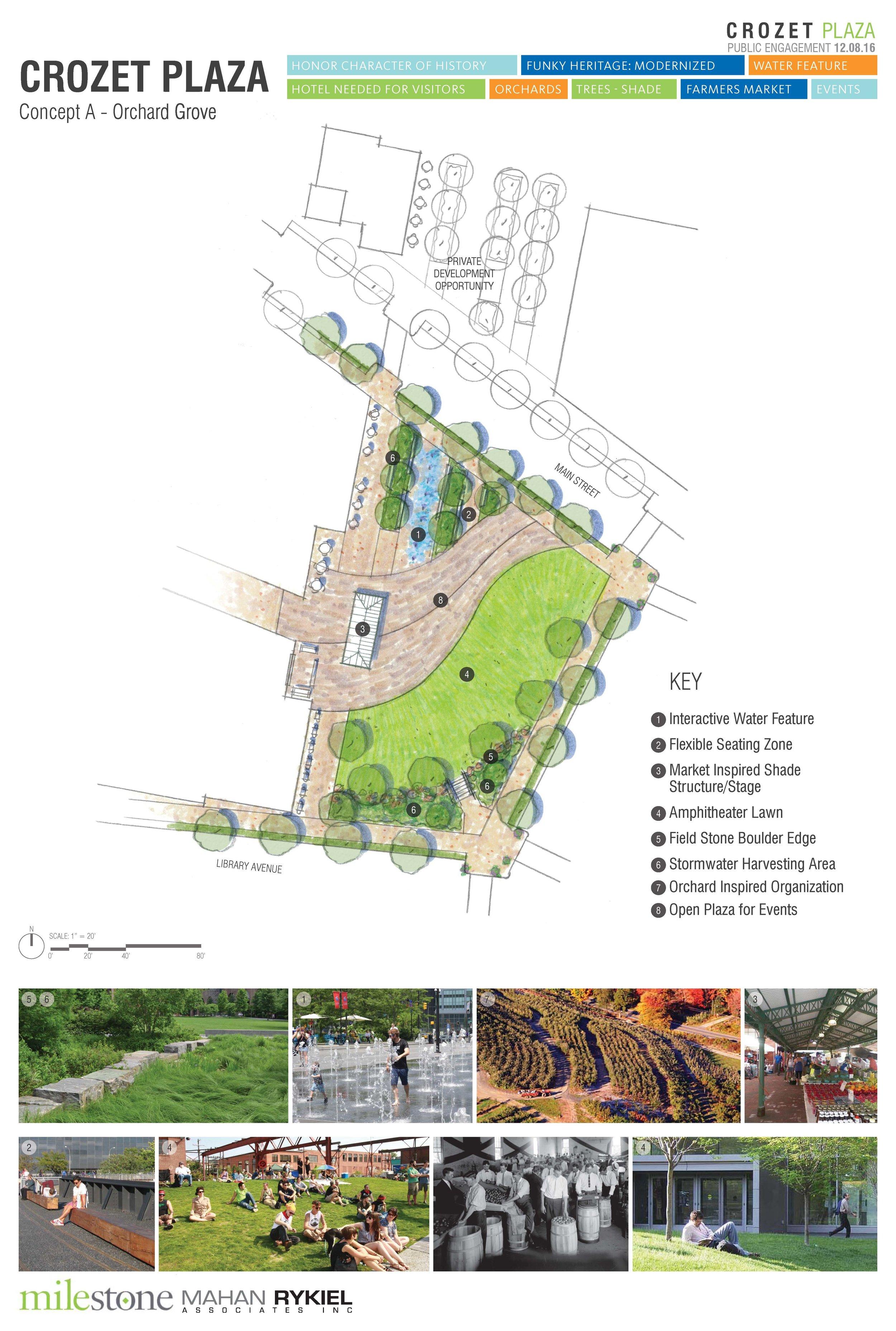 Crozet Plaza Design A