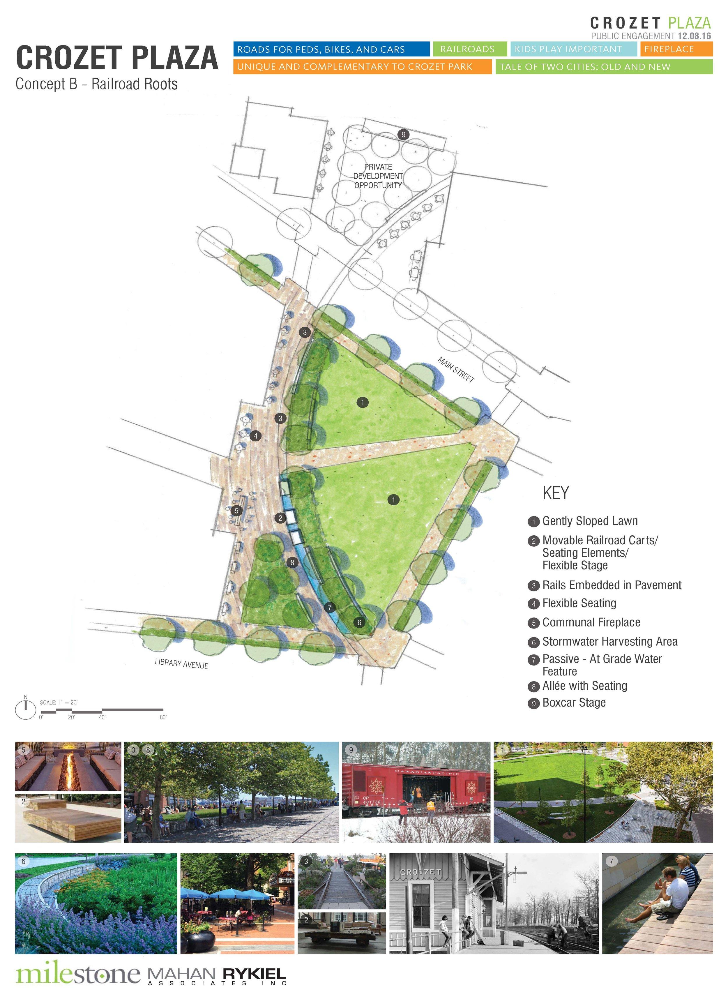 Crozet Plaza Design B