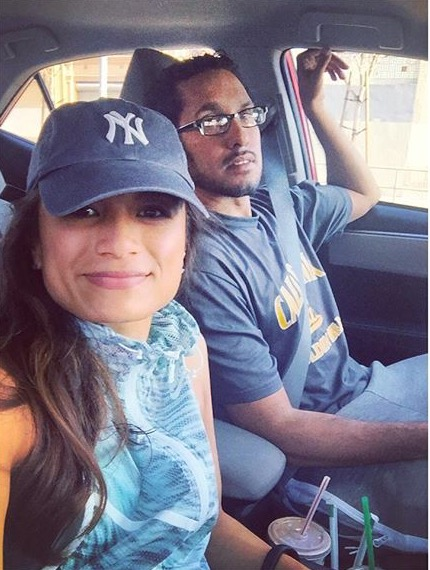 Driving together to the LA Marathon.