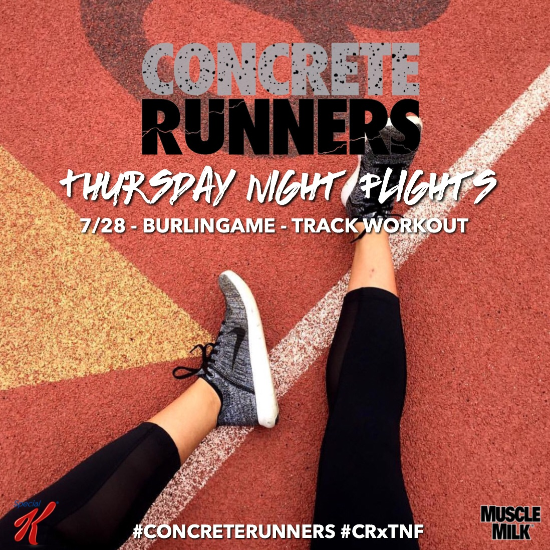 Take flight and RUN with us! Open to everyone, all levels are welcome!    Meeting location: Burlingame High School Track     ➡️ Start time: 6:30 PM ➡️ Check-in: 6:15 PM ➡️ Post Run: Fueled    by  @musclemilk & @specialkus