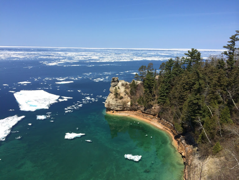 A scenic view from 'Pictured Rocks'