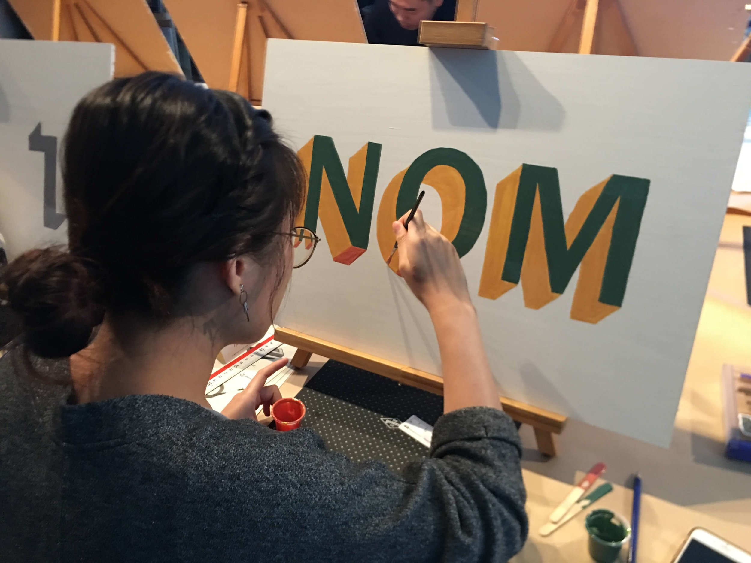 hand painting letters