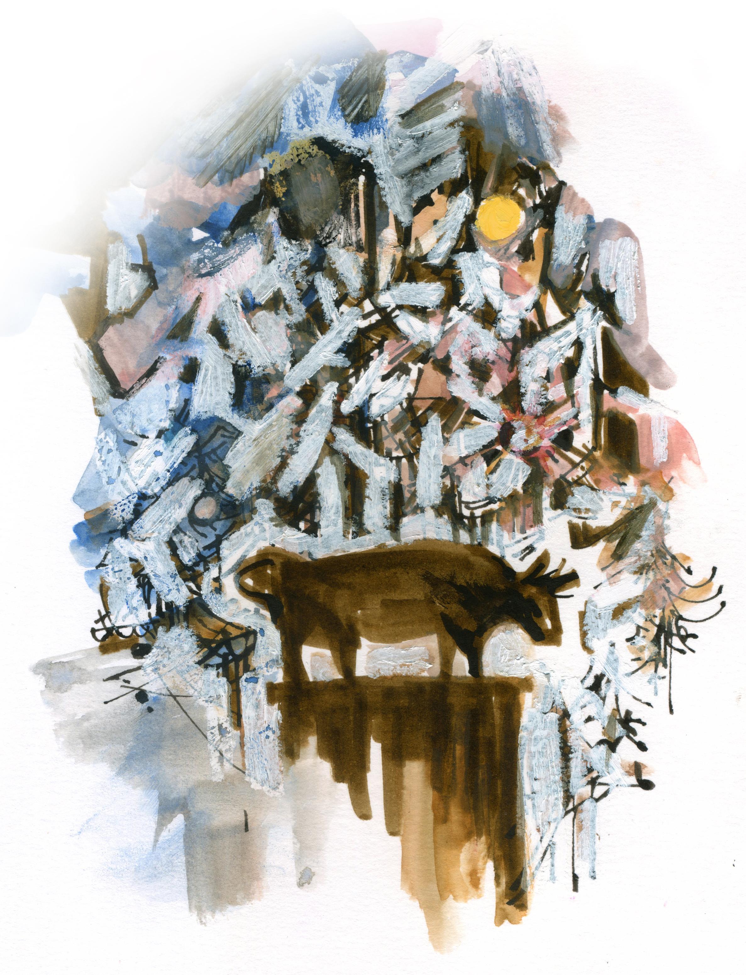 Smithtown Bull  Whisper  monument, Smithtown, NY, Winter 2015
