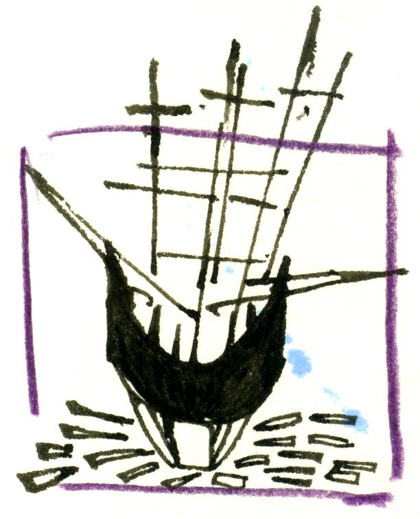Sketchbook, Morgan, Mystic Seaport, CT, 2015
