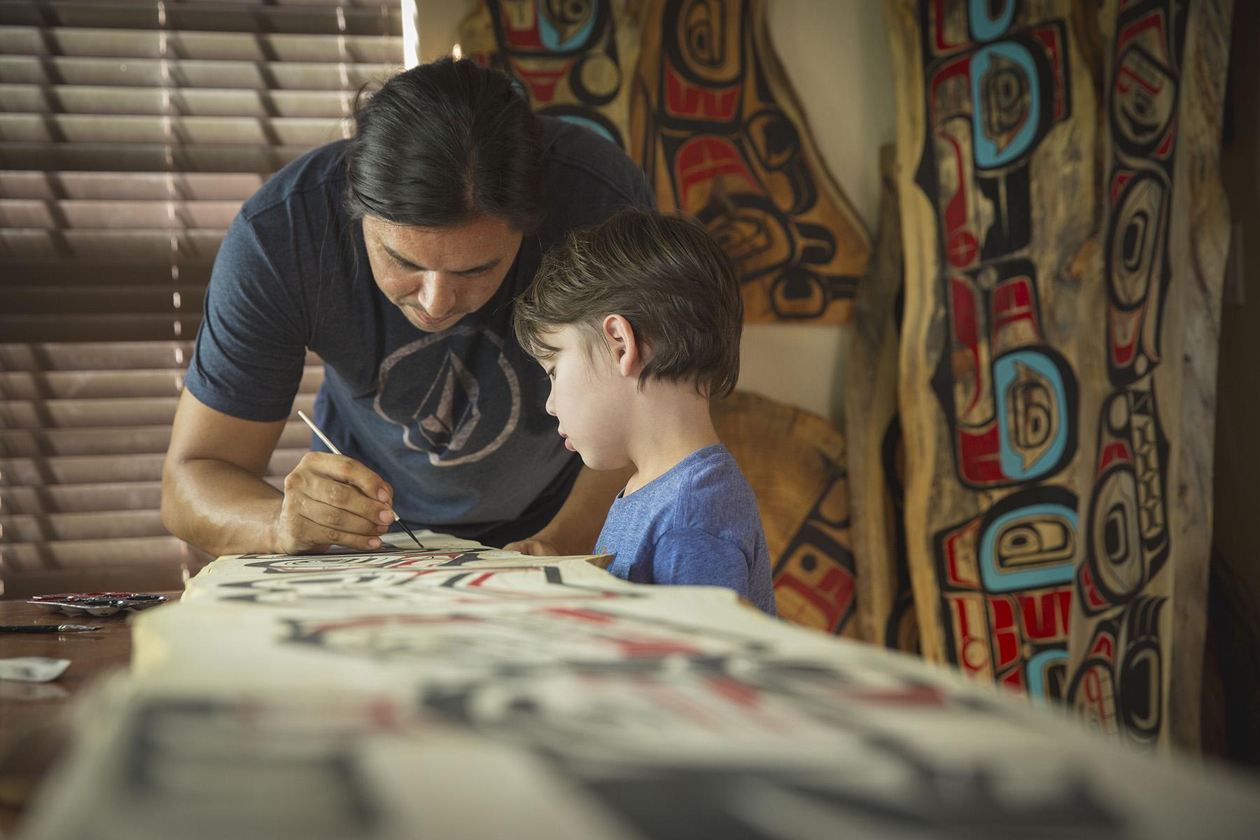 James and his son Elias / photo: Ian Tetzner