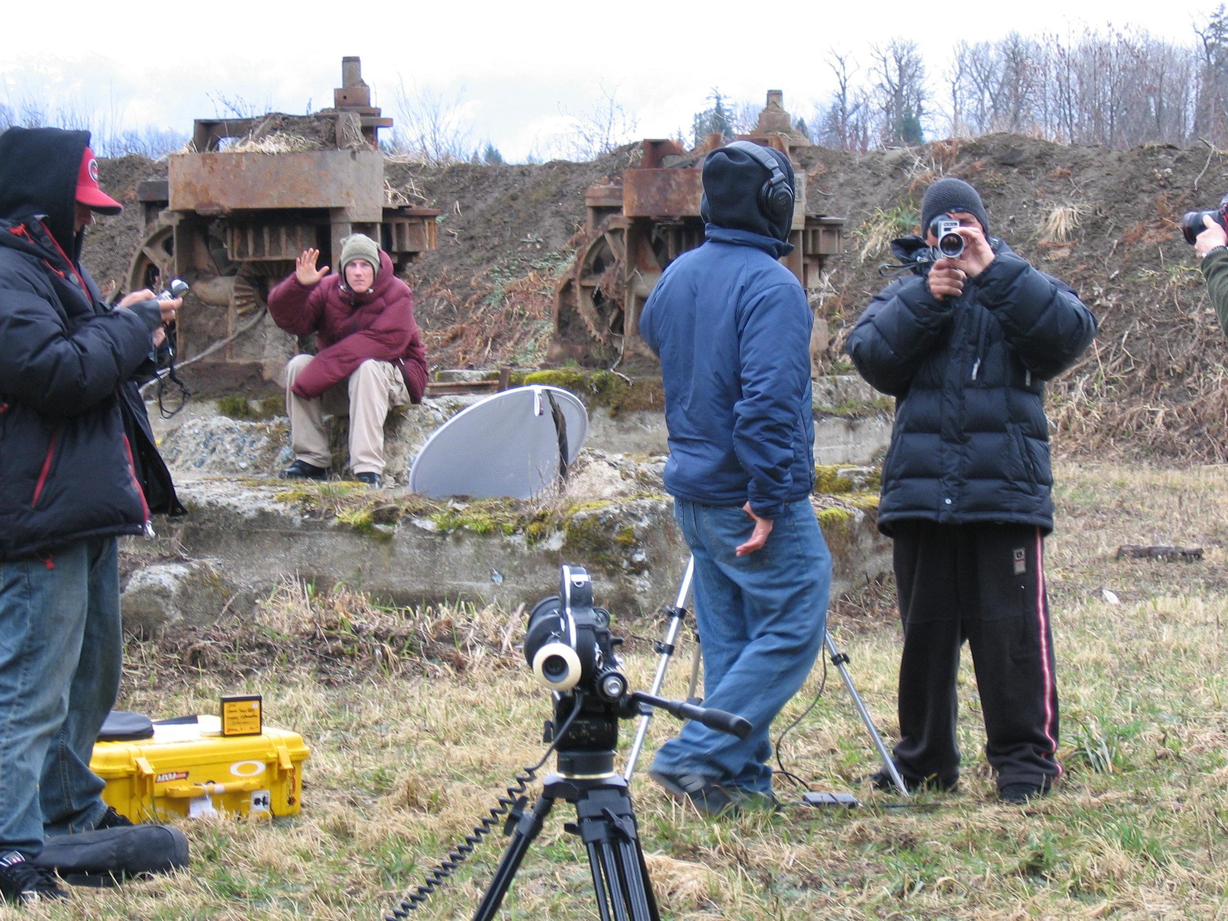 Freddy Kalbermatten, and Mike Hatchett on camera /photo: Dano Pendygrasse