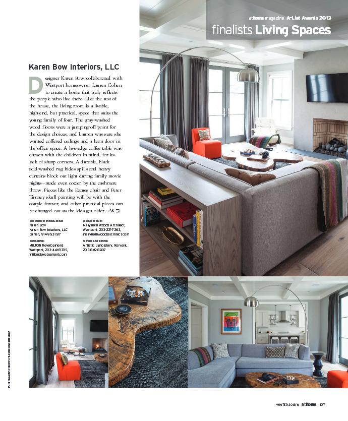 Modern Farm house in Westport Ct Finalist AtHome Magazine