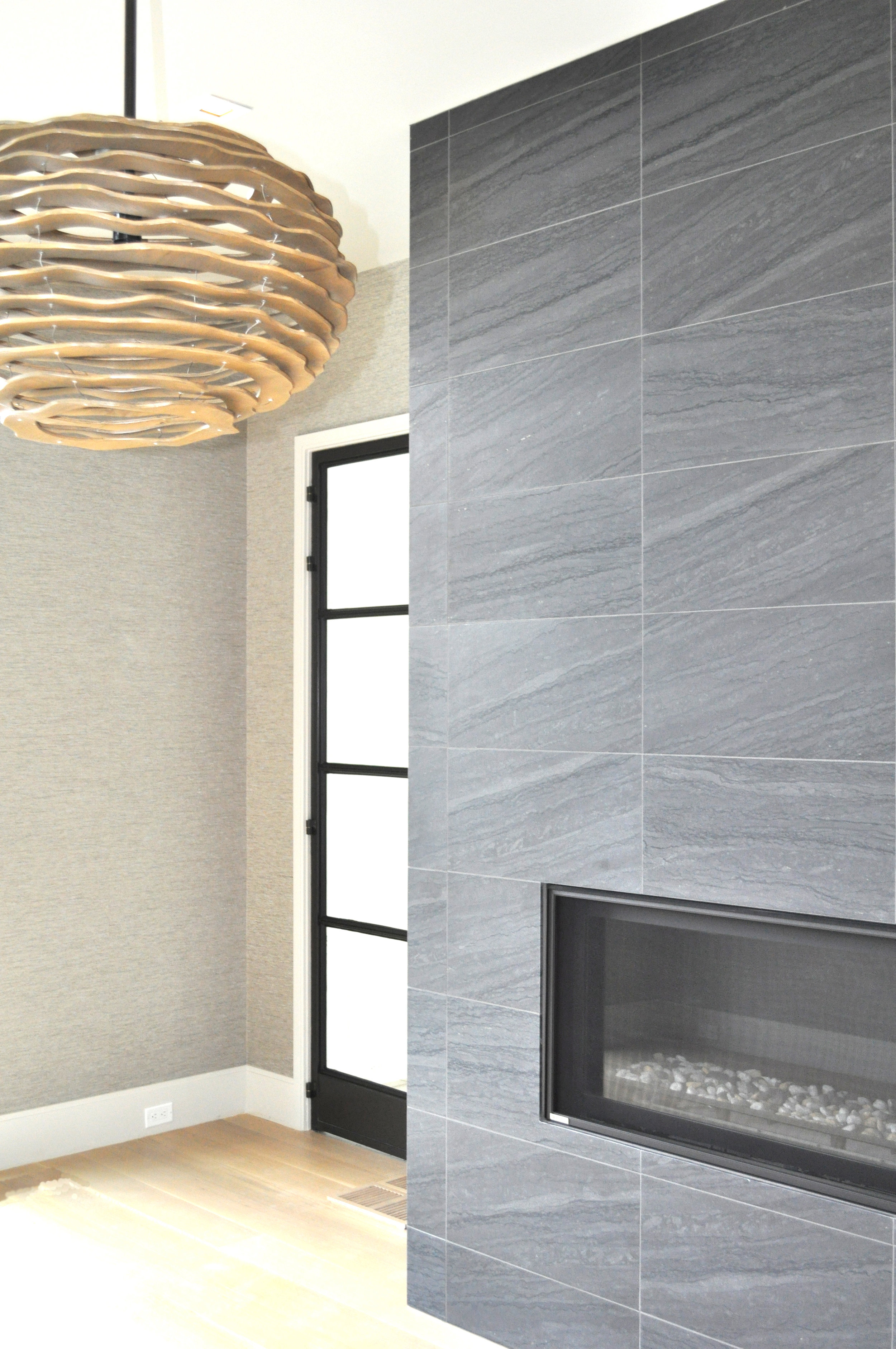 Fireplace and Lighting for For Milton Development with Laura Kaehler Architects and Rebecka Hekmat