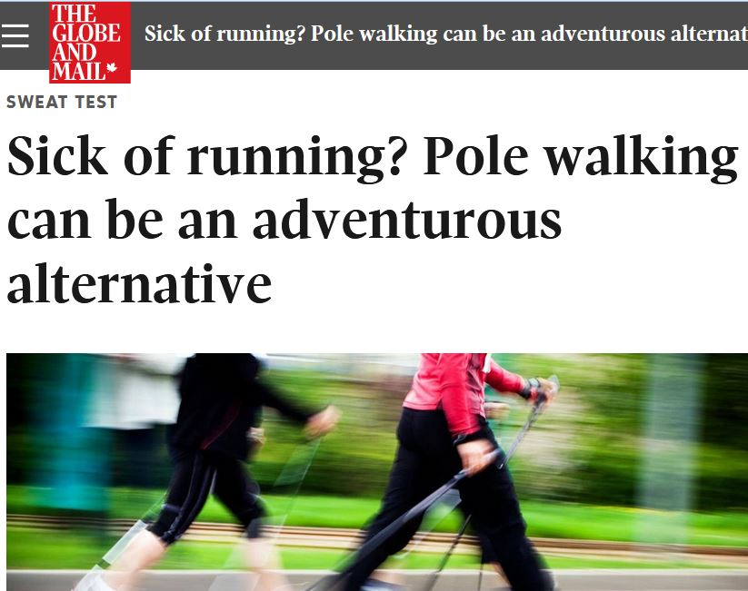 The Globe and Mail gives Nordic walking (and my class) a double thumbs up! (Click image above.)