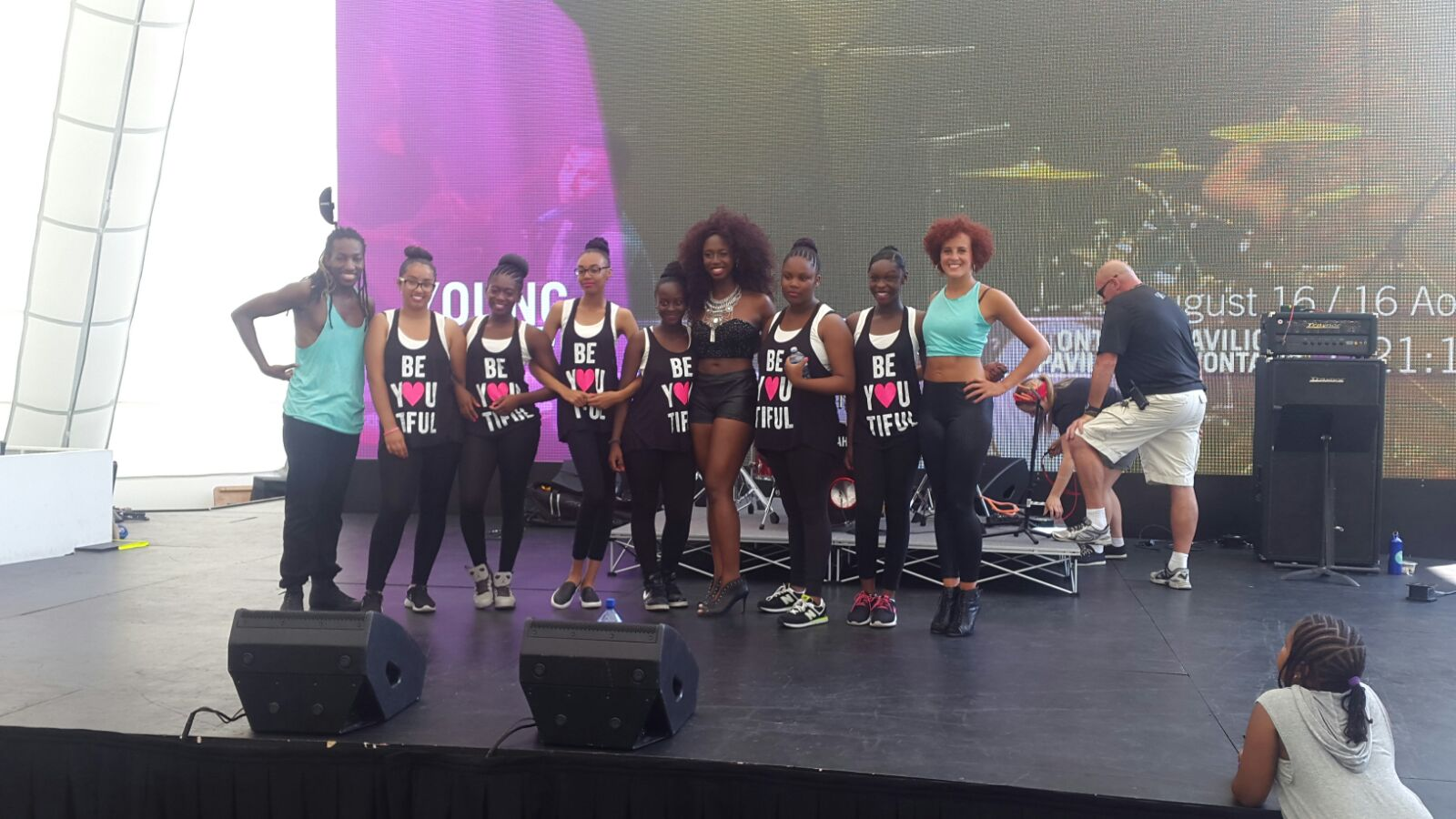 Freedom Dance Academy pictured with  Domanique Grant  and her two backup dancers