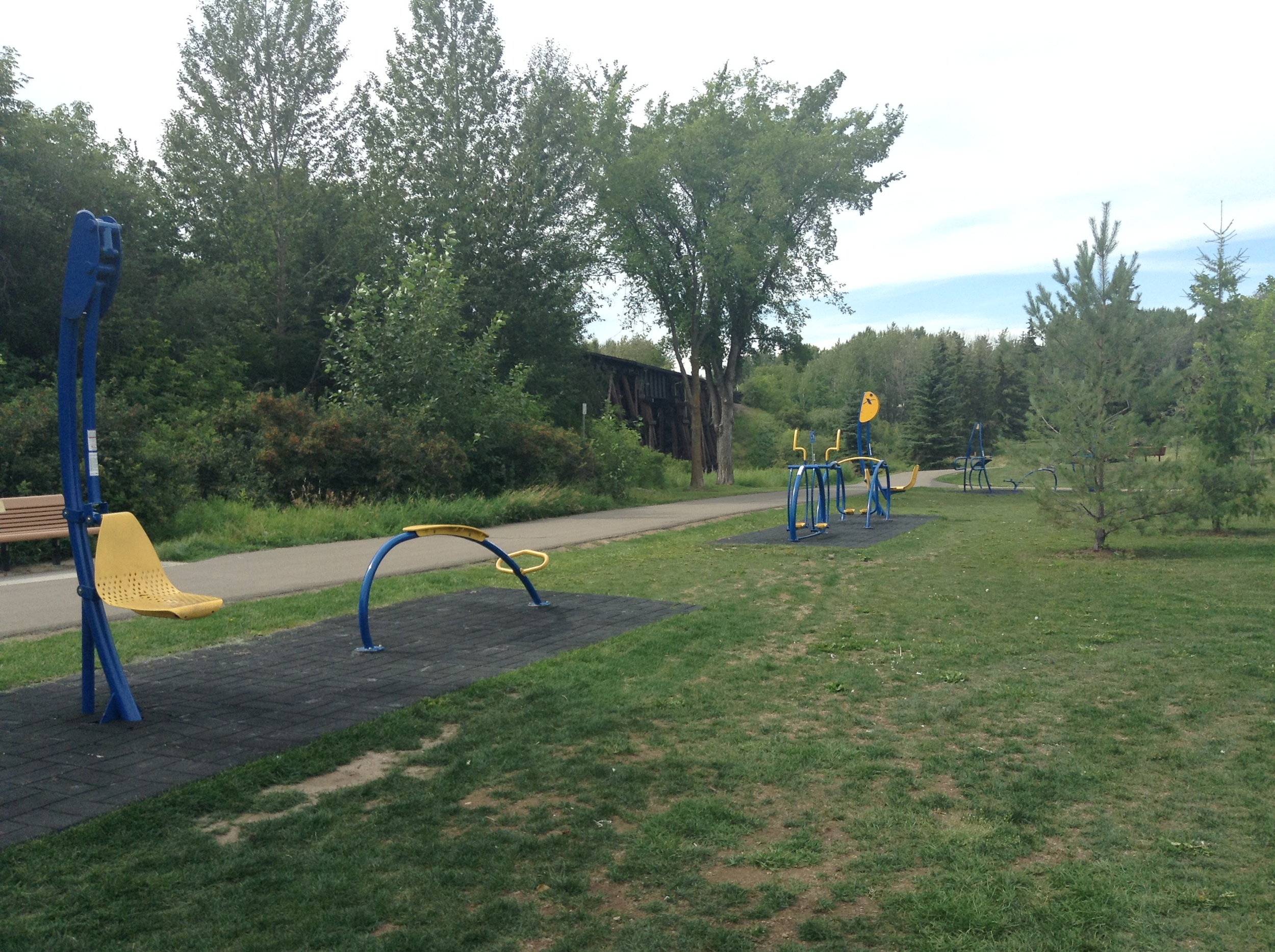 Lions Park offers exercise equipment for public use!
