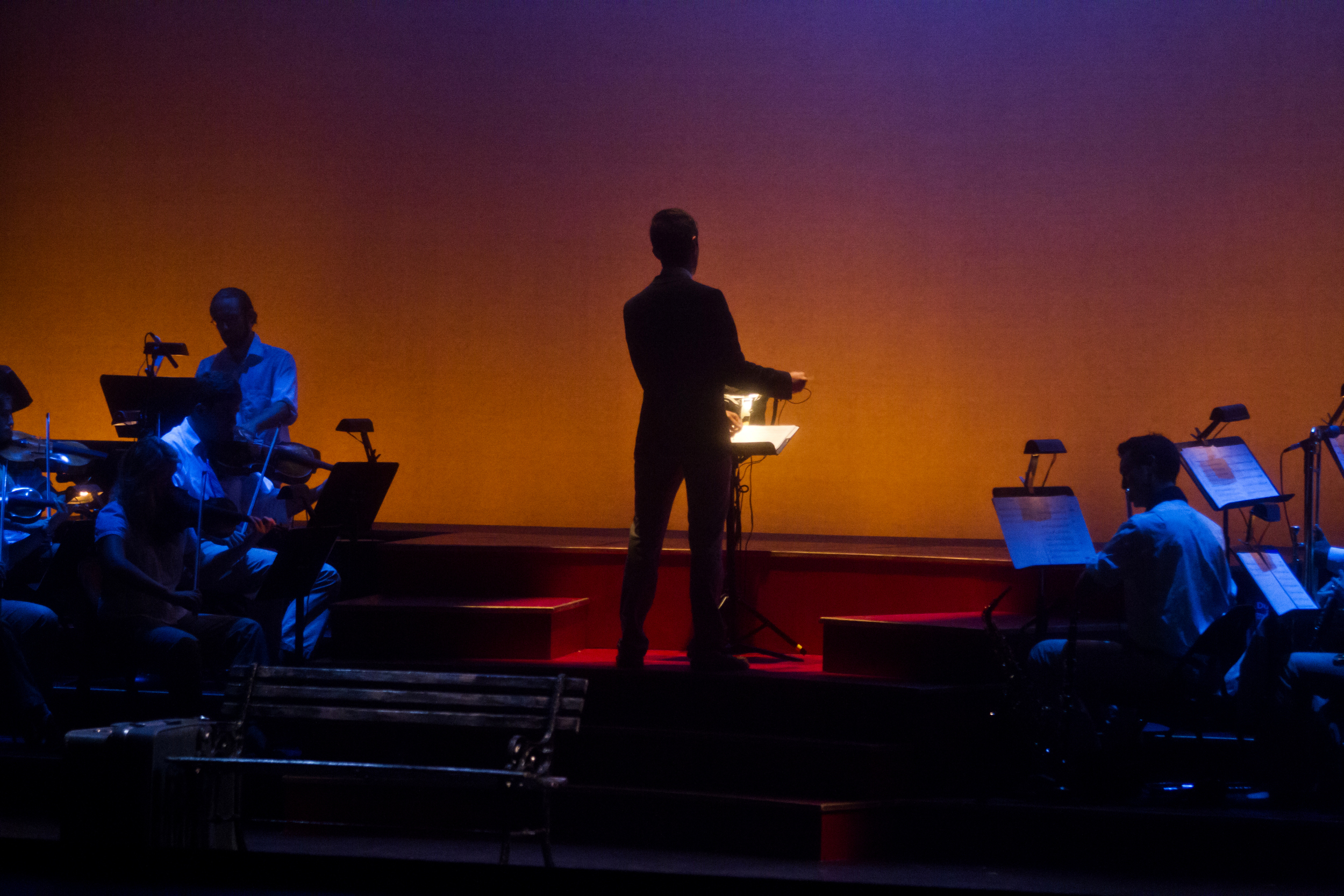 """Conducting performance of """"FRED"""" at the Cutler Majestic Theatre, Boston MA"""