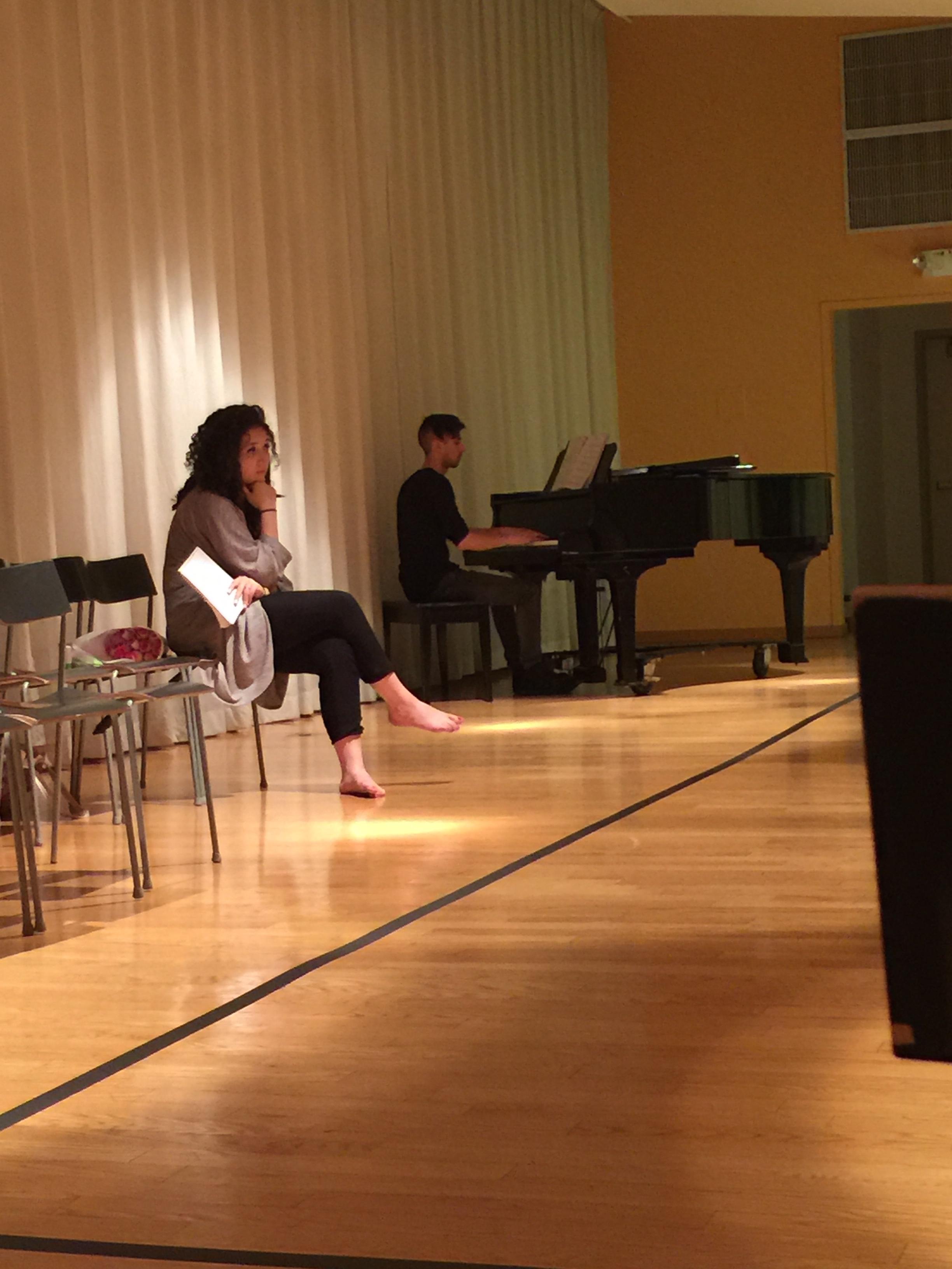 """Dress rehearsal for """"Sapien Sapien Sapien"""", co-written with Mia Capotorto Sommese"""