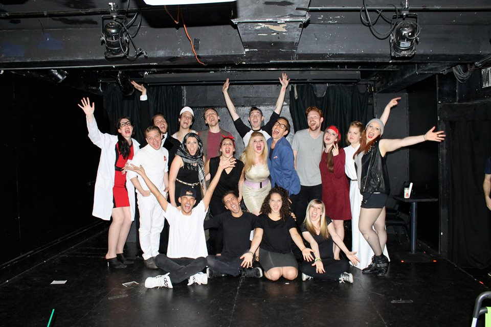 Cast of the second staged reading of The Runaway Clone, Producer's Club, NYC