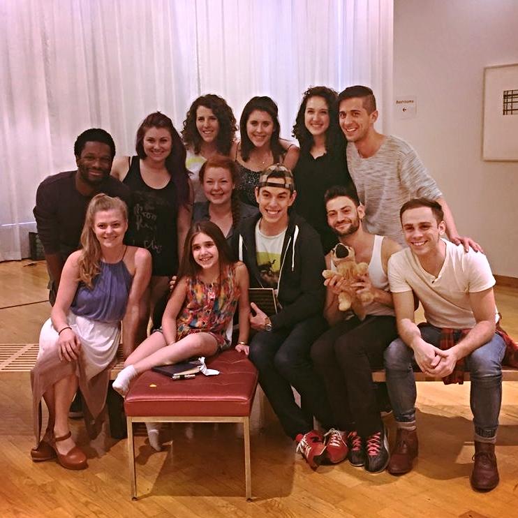 Cast of the first workshop of Sapien Sapien Sapien, Wollman Hall, NYC