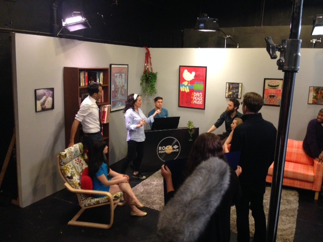 Playing on set as the MD for a filming of Sheri Sanders' Rock The Performance series. Davenport Theatricals, NYC