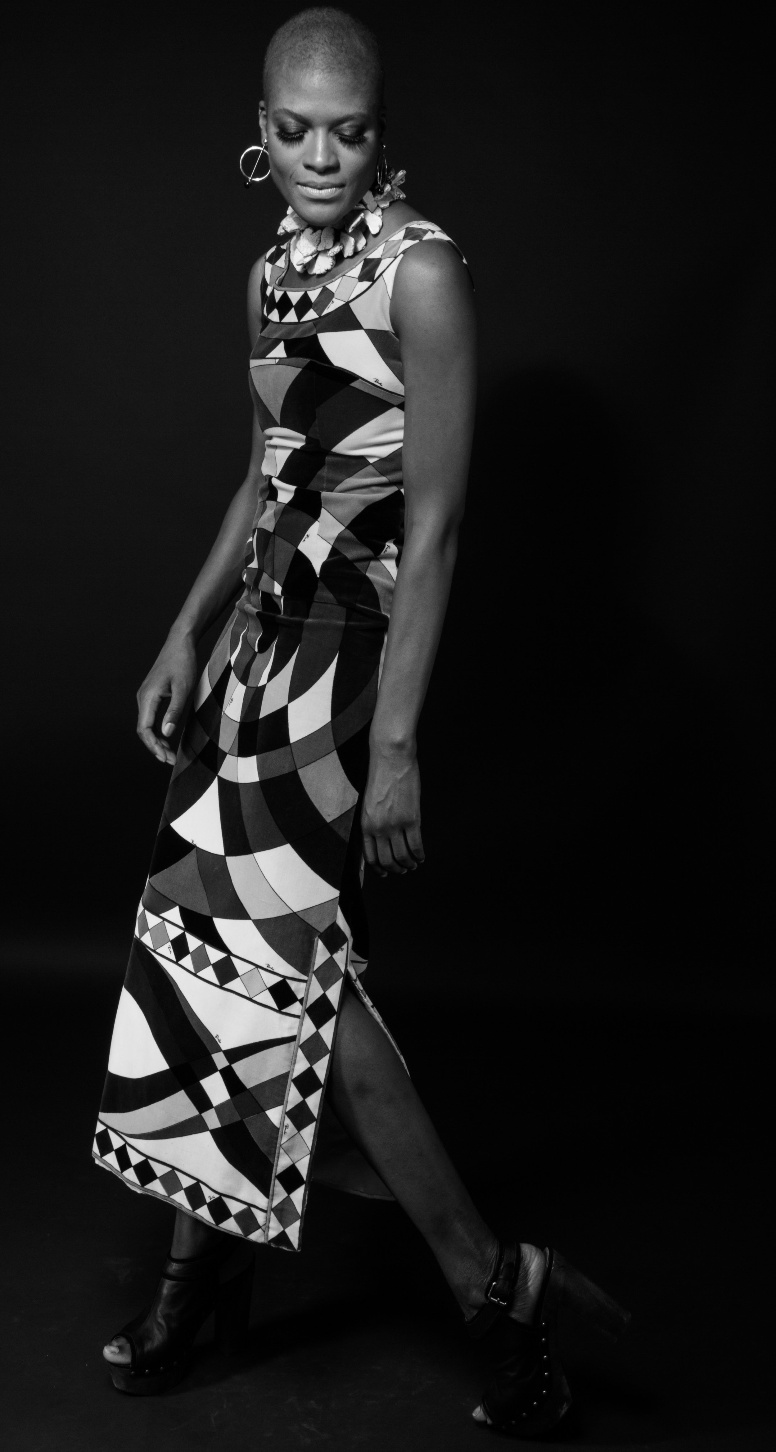 Vintage 1960's Pucci dress modeled by  @kemba_nataki  photographed by  @josephboggess2197