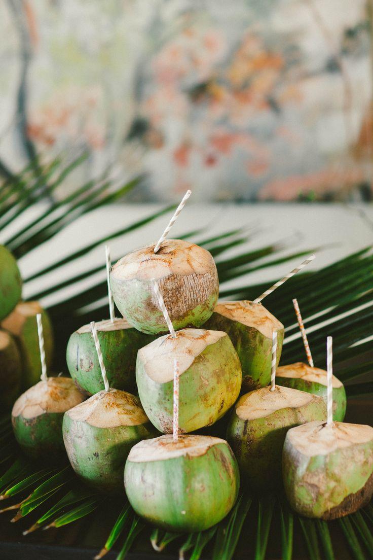 coconut cocktails beach wedding