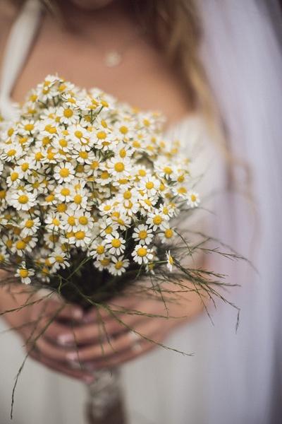 Mini daisy wedding bouquet