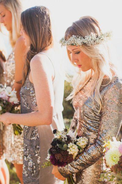 Boho glam bridesmaid style